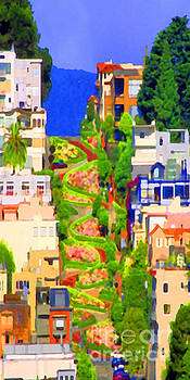 San Francisco Lombard Street Crookedest Street In America 20180928 long by Wingsdomain Art and Photography