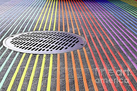 San Francisco Rainbow Intersection, Castro District by Eddie Hernandez