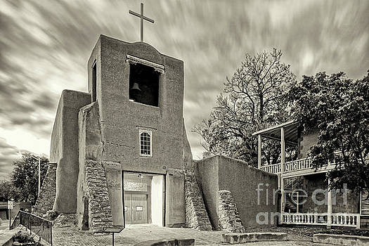 San Miguel Mission and Chapel - Santa Fe The City Different New Mexico Land of Enchantment by Silvio Ligutti