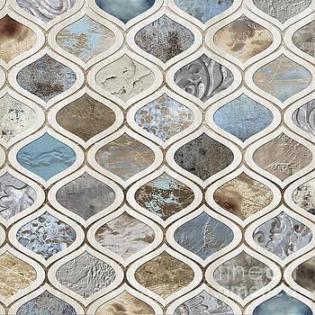 Tina Lavoie - Sand and Surf Arabesque Modern Geometric Texture Pattern