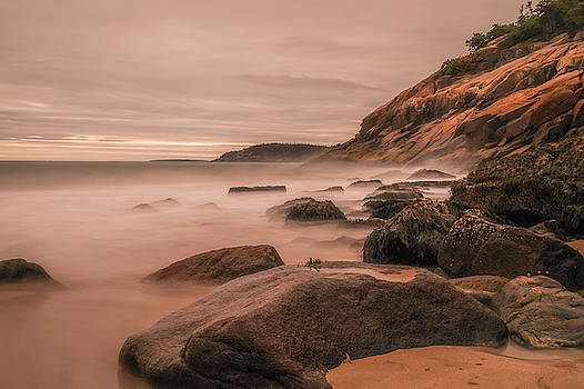 Sand Beach Acadia Long Exposure by Dan Sproul