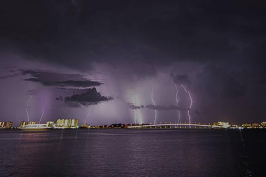 Joe Leone - Sand Key Bridge Lightning