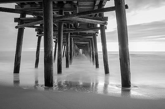 Sandbridge Pier in Black and White by Mike O'Shell
