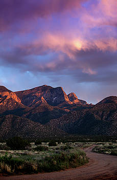 Sandia Mountains at Sunset by Howard Holley