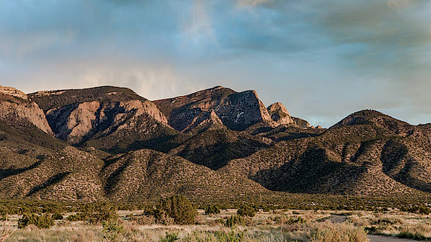 Sandia Mountains Cross by Howard Holley