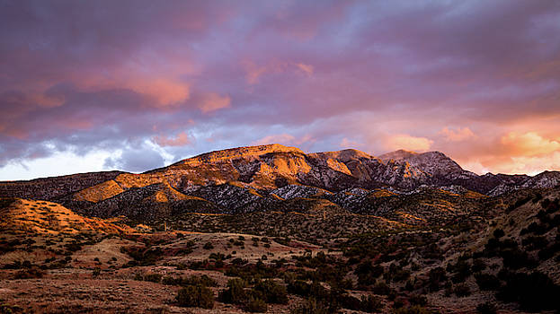 Sandia Mountains sunset by Howard Holley