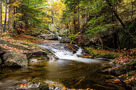 Sandwich Notch road waterfall New Hampshire by Jeff Folger