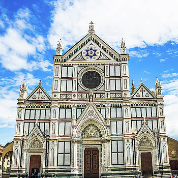Lisa Lemmons-Powers - Santa Croce with Blue Sky and Clouds