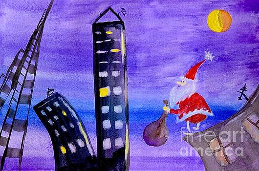 Santa in New York by Inessa Williams