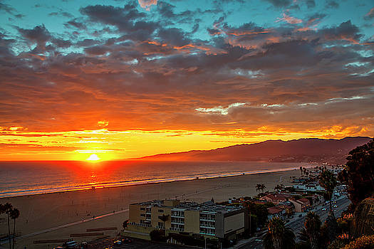 Santa Monica Bay Sunset - 10.1.18 # 2 - 17 Minutes Later by Gene Parks