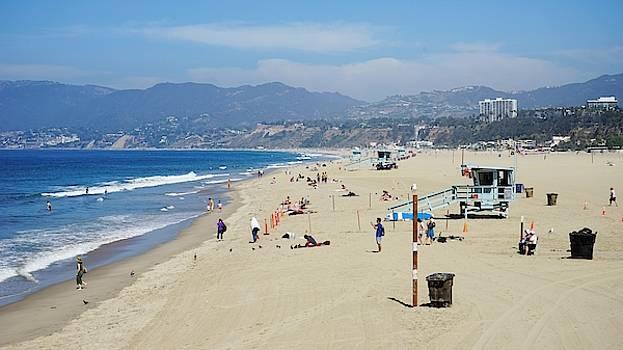 Santa Monica Beach by Barkley Simpson