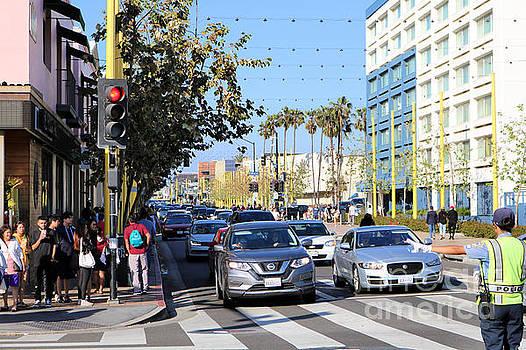 Diann Fisher - Santa Monica Pier Beach Traffic