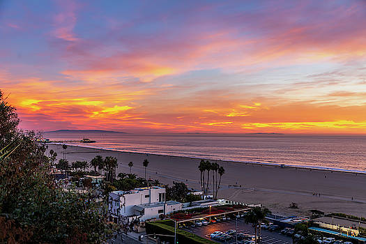 Santa Monica Pier Sunset - 11.1.18  by Gene Parks