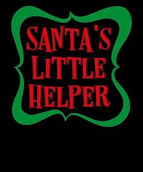 Santas Little Helper Elf Merry Christmas Funny Humor Kids Or Adults by Cameron Fulton