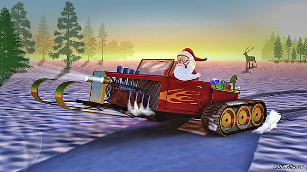 Santa's New Sleigh by Ken Morris