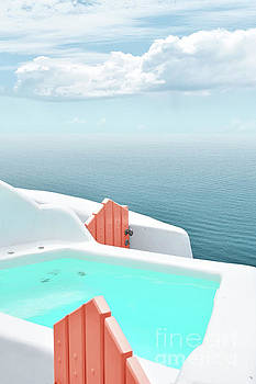 Santorini Pool by PrintsProject