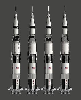 Saturn V Moon Rocket, Perspective Free by Nick Stevens