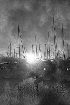 Sausalito California Mystical Magical Harbor Sunrise by Betsy Knapp
