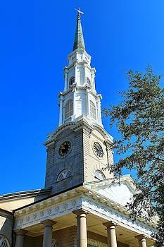 Savannah Georgia Independent Presbyterian Church Steeple  by Carol Montoya