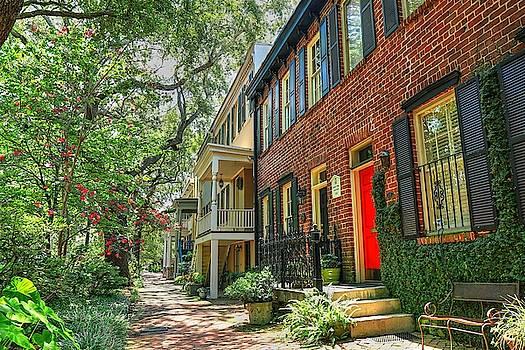 Savannah Georgia Row Houses  by Carol Montoya