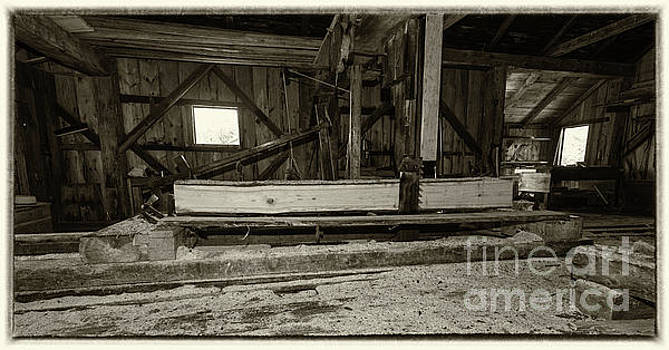Sawing logs in the operating 19th Century Sawmill by Robert McAlpine