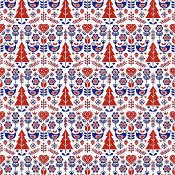 Scandinavian Folk Pattern Seamless by Vecteezy