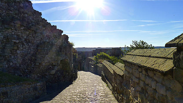 Scarborough Castle - The Road by Chris Gill