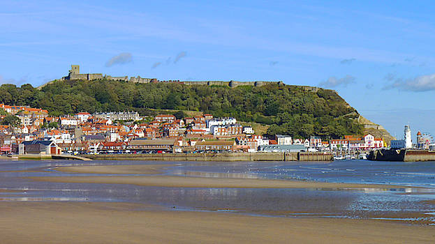 Scarborough harbour at low tide by Chris Gill