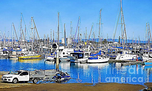 Scarborough Marina by Trudee Hunter