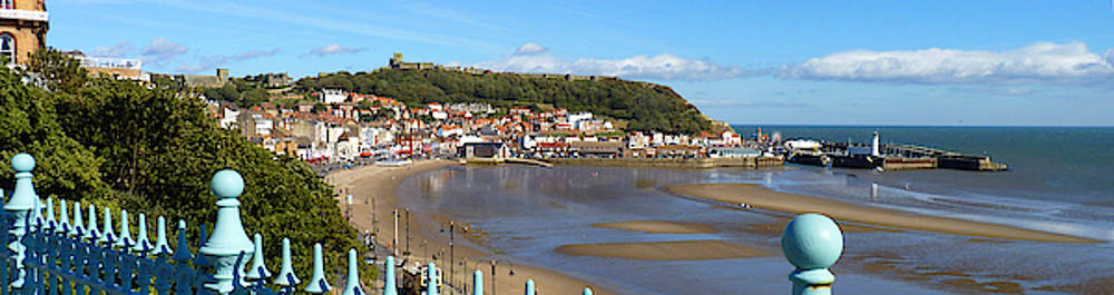 Scarborough, Yorkshire at Low Tide - A Banner Style Image by Chris Gill