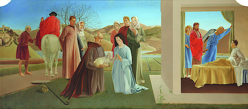 Scene From The Life Of Saint Martin Of Tours by Winifred Knights