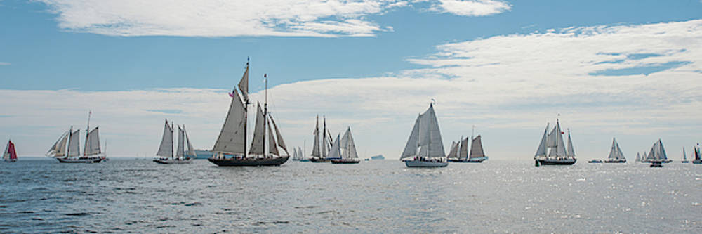 Schooners on the Chesapeake Bay by Mark Duehmig