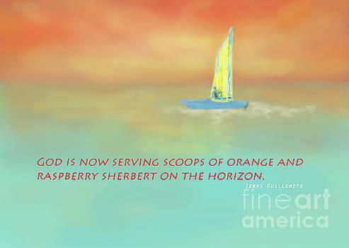 Sharon Williams Eng - Scoops of Orange Sherbert Sailboat Poster