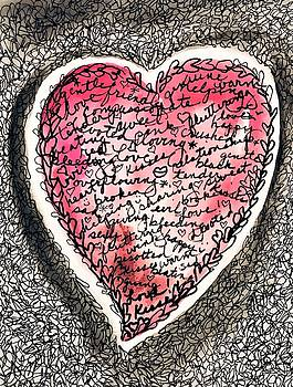 Scribble Heart by Roseann Amaranto