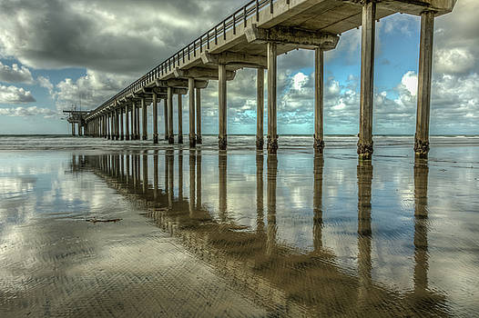 Scripps Pier La Jolla California by Constance Puttkemery