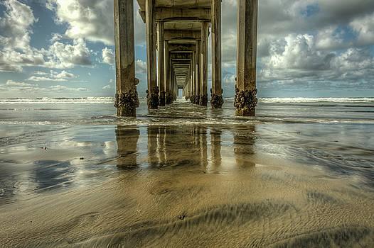 Scripps Pier San Diego California by Constance Puttkemery