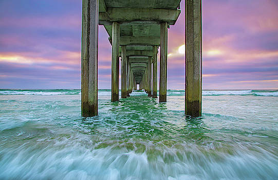 Scripps Pier Wave by Jackie Novak