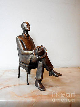 Sculpture of a Young businessman by Nikola Litchkov