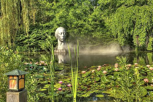 Sculture at Lake at Grounds for Sculpture in Hamilton, New Jersey by Geraldine Scull