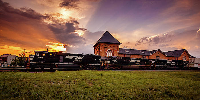 SD60E at Sunset by Greg Booher