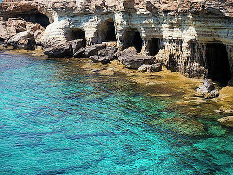 Sea Caves in Cyprus by Rae Tucker