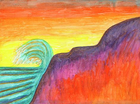Sea surf at sunset by Irina Dobrotsvet