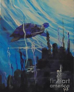 Sea Turtle by Saundra Johnson