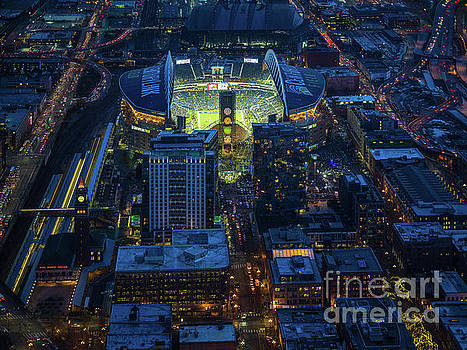 Seahawks in Sodo Night Game at Century Link by Mike Reid