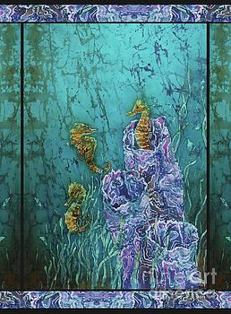 Sue Duda - Seahorses - Horsin Around - Bordered