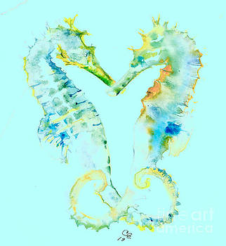 Seahorses together by Cher Clemans