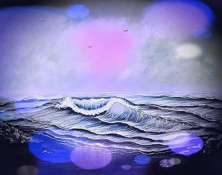 Seascape enchantment glow stardust blue  by Angela Whitehouse