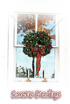 Seasons Greetings Wreath by Annette Persinger