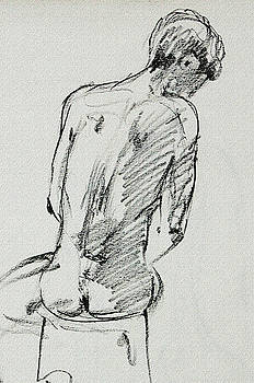 Irina Sztukowski - Seated Male Model Study Gesture XX