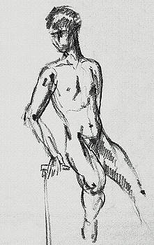 Irina Sztukowski - Seated Male Model Study Gesture XXI